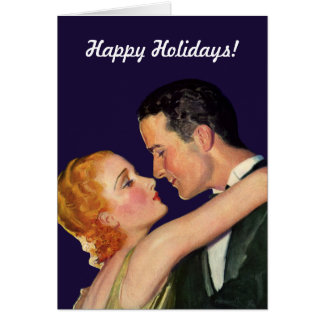 Vintage Christmas Love and Romance Hollywood Style Card