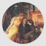 Vintage Christmas, Love and Romance Sticker
