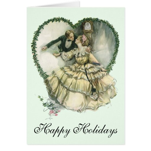 Vintage Christmas Love Greeting Card