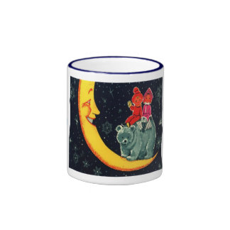 Vintage Christmas Meet the man in the moon Coffee Mug