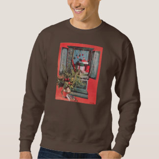 Vintage Christmas Mid-Century Chest Ornaments Pullover Sweatshirt