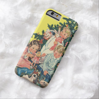 Vintage Christmas Morning, Children Opening Gifts Barely There iPhone 6 Case