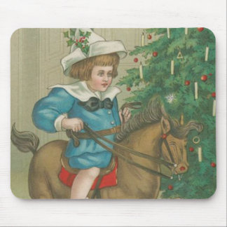 Vintage Christmas Morning Mouse Pad