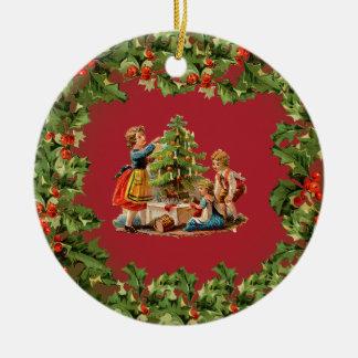 Vintage Christmas Morning Ornament