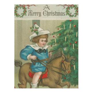 Vintage Christmas Morning Postcard