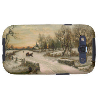 Vintage Christmas Morning Sleigh Ride Samsung Galaxy S3 Covers