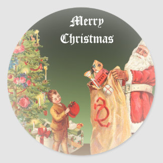 Vintage Christmas Morning Sticker