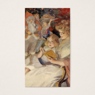 Vintage Christmas, Mother Reading Bedtime Story Business Card