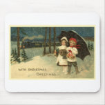 Vintage Christmas Mouse Pads