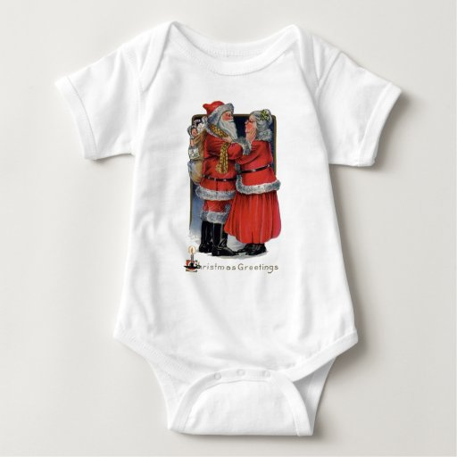 Vintage Christmas - Mr and Mrs Claus Baby Bodysuit
