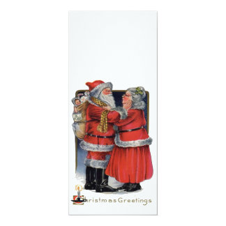 Vintage Christmas - Mr and Mrs Claus Personalized Invite