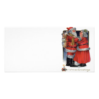 Vintage Christmas - Mr and Mrs Claus Photo Card