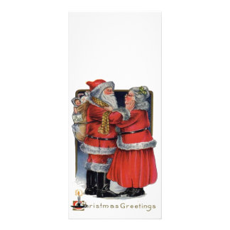 Vintage Christmas - Mr and Mrs Claus Rack Card Template