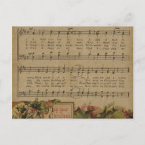Vintage Christmas Music Sheet Holiday