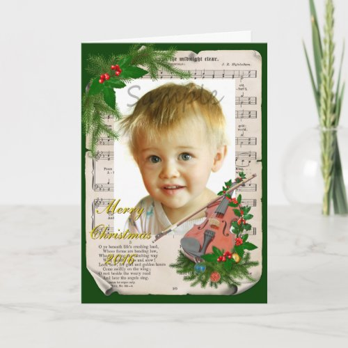 Vintage Christmas Music Violin Add Your Photo