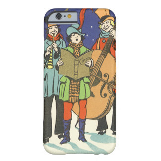 Vintage Christmas, Musicians Caroling Barely There iPhone 6 Case