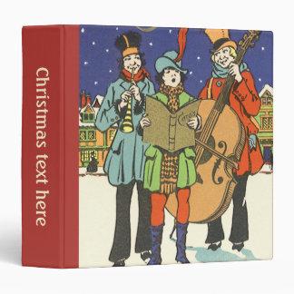 Vintage Christmas, Musicians Caroling with Music 3 Ring Binder
