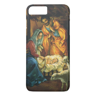 Vintage Christmas Nativity, Baby Jesus in Manger iPhone 8 Plus/7 Plus Case