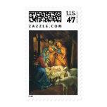 Vintage Christmas Nativity, Baby Jesus in Manger Postage Stamp