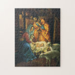 Vintage Christmas Nativity, Baby Jesus in Manger Puzzles