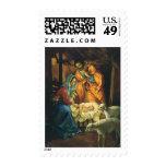 Vintage Christmas Nativity, Baby Jesus in Manger Stamp
