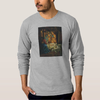 Vintage Christmas Nativity, Baby Jesus in Manger Tee Shirt