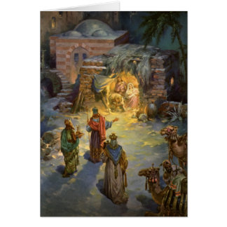 Vintage Christmas Nativity Greeting Card