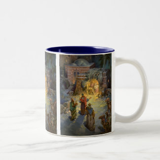 Vintage Christmas Nativity Coffee Mug