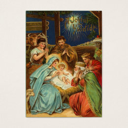 Vintage Christmas Nativity Gift Tags