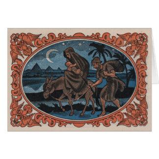 Vintage Christmas Nativity Jesus Mary Joseph Card