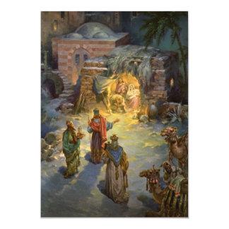 Vintage Christmas Nativity Magi Invitation