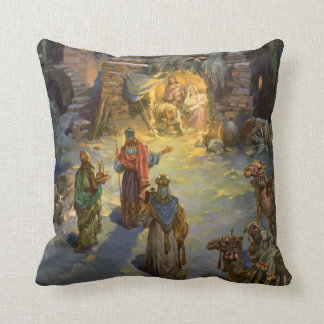 Vintage Christmas Nativity Pillows