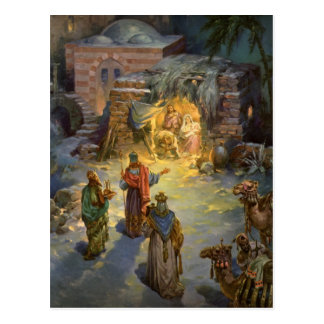 Vintage Christmas Nativity Post Cards