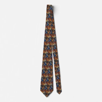 Vintage Christmas Nativity Scene in Stained Glass Tie