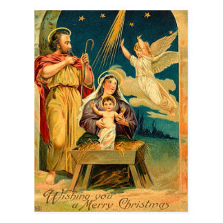 Vintage Christmas Nativity Scene Postcards