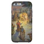 Vintage Christmas Nativity Tough iPhone 6 Case
