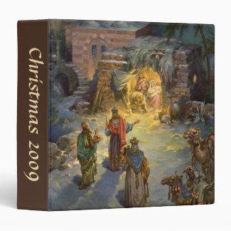 Vintage Christmas Nativity with Visiting Magi Vinyl Binder