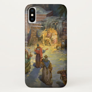 Vintage Christmas Nativity with Visiting Magi iPhone X Case