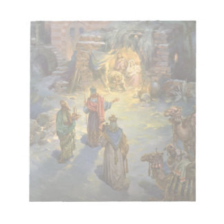 Vintage Christmas Nativity with Visiting Magi Notepad