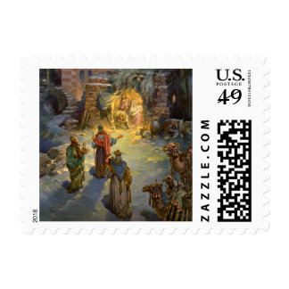 Vintage Christmas Nativity with Visiting Magi Postage