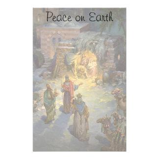 Vintage Christmas Nativity with Visiting Magi Stationery