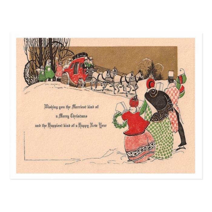 Vintage Christmas & New Year Postcard