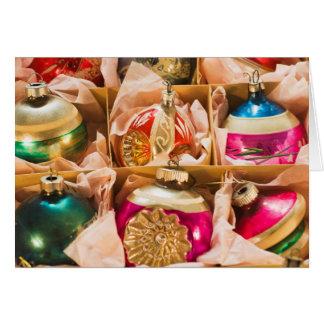 Vintage Christmas ornaments Card