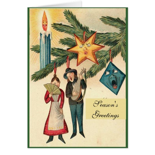 Vintage Christmas Ornaments Card