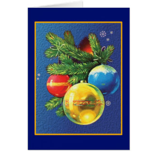 Vintage Christmas Ornaments Christmas Card