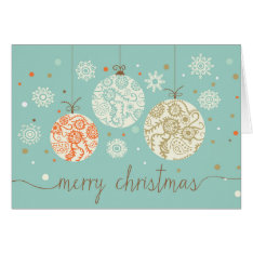 Vintage Christmas Ornaments Greeting Card at Zazzle
