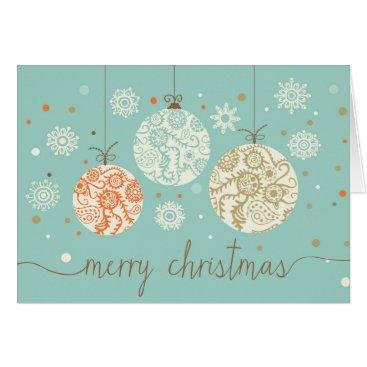 Christmas Themed Vintage Christmas Ornaments Greeting Card