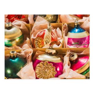Vintage Christmas ornaments Postcard