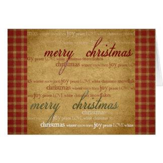 Vintage Christmas Paper Greeting Card