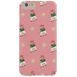 Vintage Christmas Pattern, Candy Canes with Pink Barely There iPhone 6 Plus Case